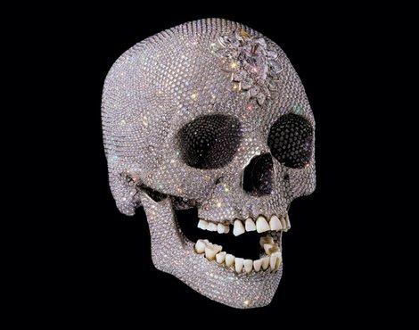 Diamond decorations skull