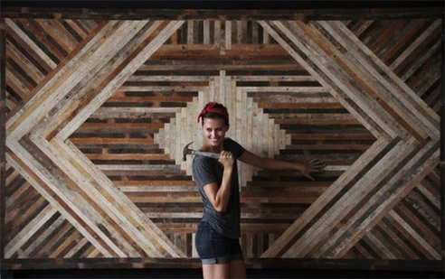 Brooklyn designer rescues landfilled wood for stylish geometric