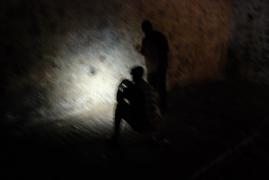 In the dark dungeons at Cape Coast Castle in Ghana. Courtesy of Roy Anderson