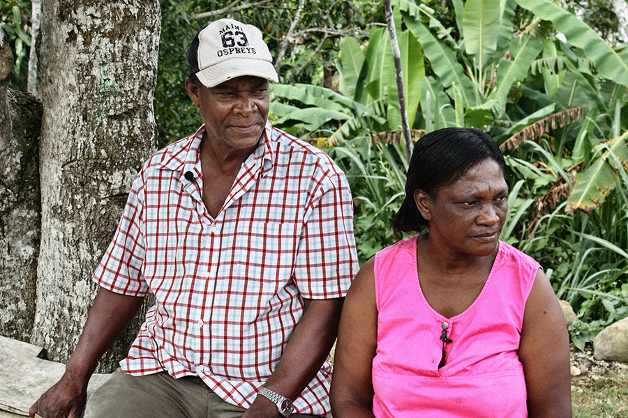 Maroon couple from Accompong – 'Brother' Jack Rowe and 'Miss Daisy' Isolyn Rowe Courtesy of Roy Anderson