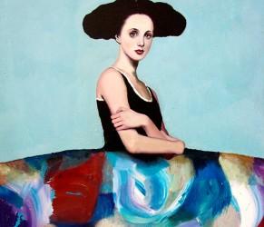©Alfredo Palmero menina-azul-en-abstracto