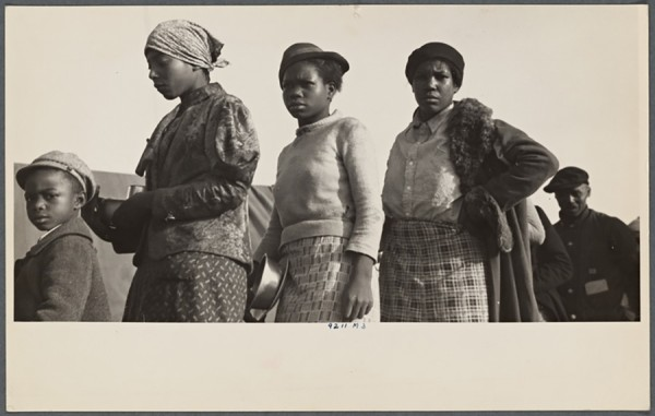 Walker Evans - Negroes in the lineup for food at meal time in the camp for flood refugees, Forrest City, Arkansas – 1937 http://digitalcollections.nypl.org/items/6b18d600-bb7b-0132-cf91-58d385a7b928